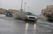 أمطار متوسطة على منطقة القصيم