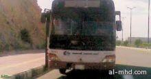 سائق في حاله غير طبيعيه يقود حافله طالبات بتنومه