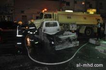 حريق في محطة وقود بشارع25بالشهداء الشمالي بالطائف