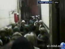 الشرطة تقتحم مسجد الفتح تحت الرصاص