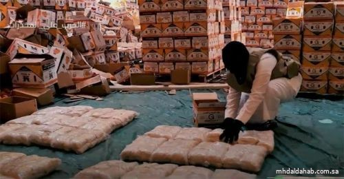إحباط محاولة تهريب (5,200,000) قرص إمفيتامين مخدر مخبأة داخل شحنة فاكهة البرتقال والقبض على 4 متهمين