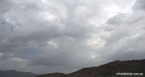 """""""الأرصاد"""": غيوم وسحب رعدية ممطرة على مرتفعات المدينة وحائل والجنوبية الغربية"""