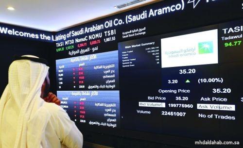 سوق الأسهم السعودية يغلق مرتفعًا عند 11352.86 نقطة