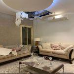 صور من منزل مواطن بالرياض لآثار انتشار شظايا اعتراض صاروخ بالستي حوثي