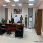 مدير الدفاع المدني بالمهد يقوم بزيارة لفرع الموارد البشرية والتنمية الاجتماعية بالمحافظة